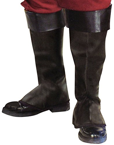 Forum Novelties Pirate Boot Covers for Kids - (Kids Black Pirate Boots)
