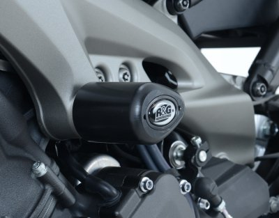 R&G RACING MID ENGINE AERO STYLE CRASH PROTECTORS FIT YAMAHA MT-09 MT09 BLACK - CP0355BL