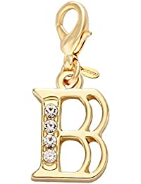 Alloy 26 Alphabet English Letters Crystal Initial Charms for Bracelet,Necklace,Keychain