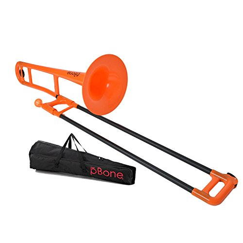 pBone PBONE1OR Jiggs pBone - Plastic Trombone - Orange