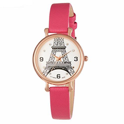 Price comparison product image Auspicious beginning Student's Quartz Leather Watchbelt Watch For Girls