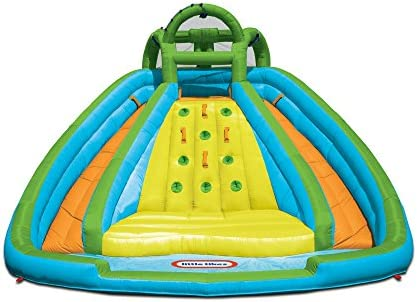 Amusement Park Rocky Mountain River Race Crocodile Isle Inflatable Water Park With Dual Slides Entertainment