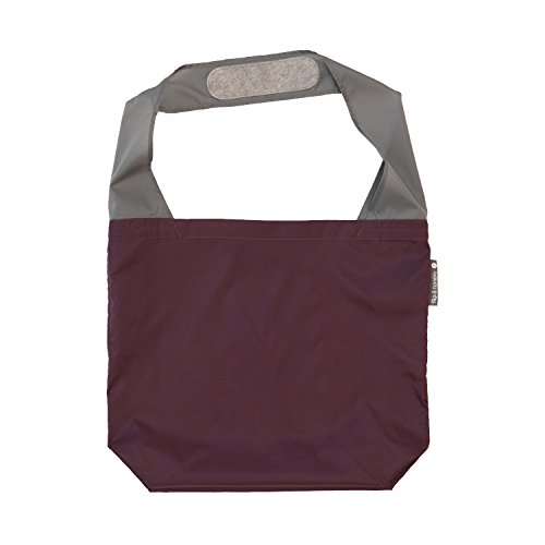 FLIP AND TUMBLE – Premium Reusable Grocery Bag - perfect Shopping Bag, Beach Bag, Travel Bag, Eggplant