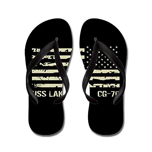 CafePress USS Lake Erie - Flip Flops, Funny Thong Sandals, Beach Sandals Black