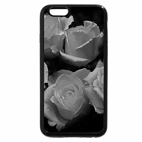 iPhone 6S Plus Case, iPhone 6 Plus Case (Black & White) - Blushing Yellow Roses