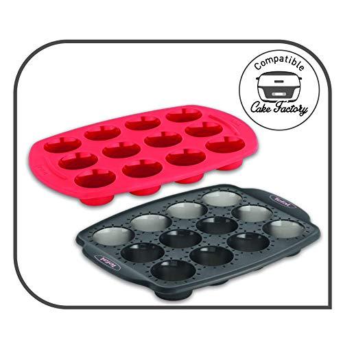 Tefal J4072104 Stampo in Silicone per 12 Mini Muffin