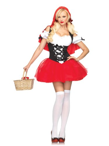 Leg Avenue Women's Racy Red Riding Hood Costume, Red/Black, Small/Medium (Racy Red Riding Hood Costume)