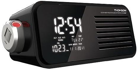 Thomson CP300T - Radio Despertador con proyector, Negro: Amazon.es: Electrónica