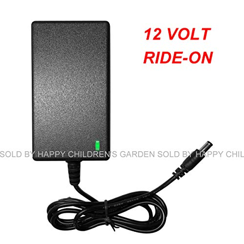 FLH 12 Volt Charger for Best Choice Products Ride On Kids Electric Cars for Mercedes Benz G55 BWM I8 Jeep Maserati Ferrari Children Powered Ride On Toys Adapter with Charging Indicator Light