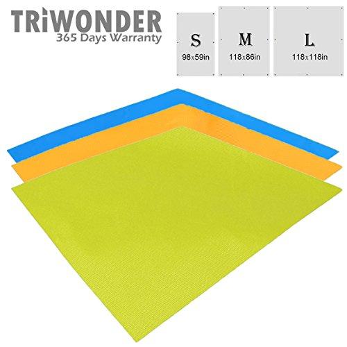 Triwonder-Outdoor-Waterproof-Sunshade-Camping-Shelter-Tent-Tarp-Footprint-Groundsheet-Beach-Picnic-Blanket-Mat-Rain-Fly-for-Hammock