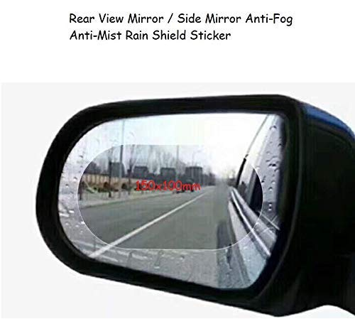 Just Accessories/® 2Pcs 150x100mm Car Rearview Mirror Waterproof Membrane Film Anti Fog Anti-glare Rainproof Rear View Mirror Window Clear Protective Film