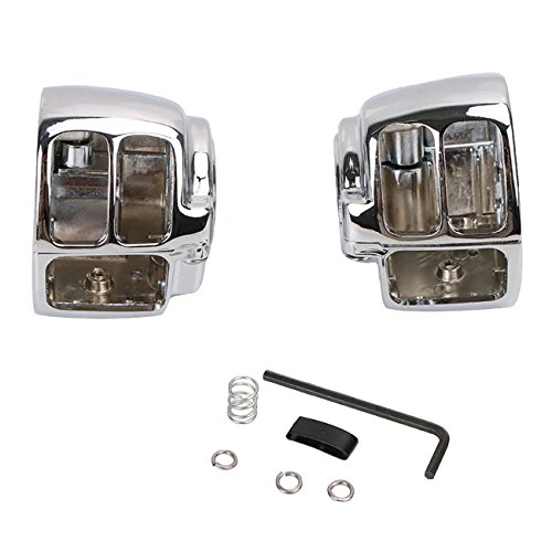 Aluminum Chrome Switch Housing Cover for Harley Davidson Dyna Softail Wide Glide FXST FX