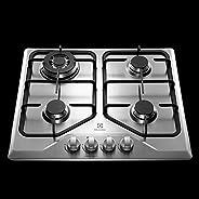 Cooktop a Gás Electrolux Inox com 4 bocas e Queimador Tripla Chama Bivolt GT60X - Inox - Bivolt