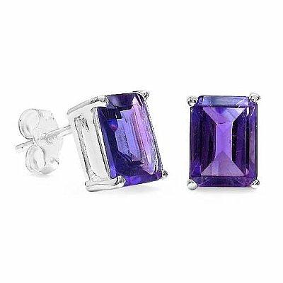 Bijoux Schmidt-Precious Jewelry Set Amethyst 4-pièce d'argent-6, 60 carats