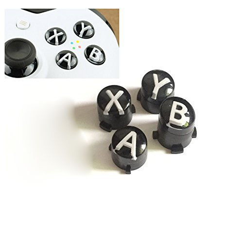 - A B X Y Buttons Letters Mod Menu Button for Xbox One S Slim Elite Controller (White)