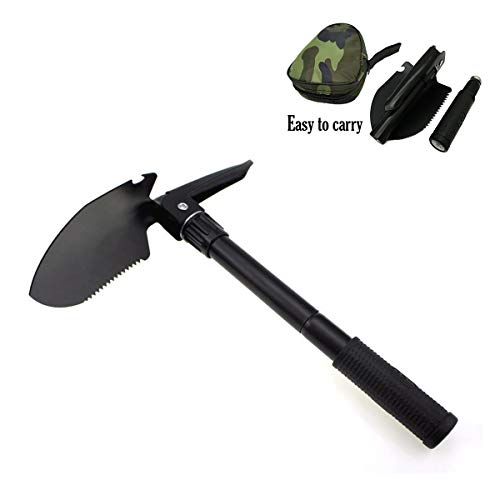 - OneBuyOne Mini Folding Shovel and Pickax with Tactical Waist Pack Army Surplus Multitool for Camping, Hiking, Backpacking, Fishing, Trench Entrenching Tool, Car Emergency etc. Military Portable Shove
