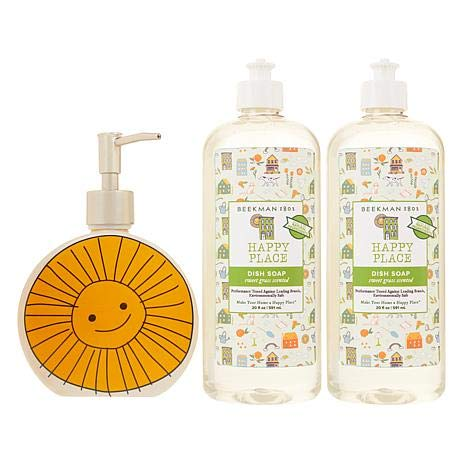 Beekman 1802 Happy Place (2) 20 oz. Dish Soap with Ceramic Hand Soap Dispenser