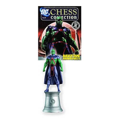DC Superhero Martian Manhunter Chess Piece with Magazine by Eaglemoss Publications
