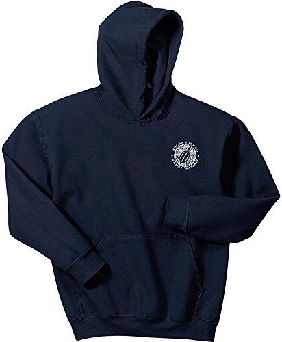 Koloa Hawaiian Turtle Logo Hoodies-Hooded Sweatshirt-Navy-L