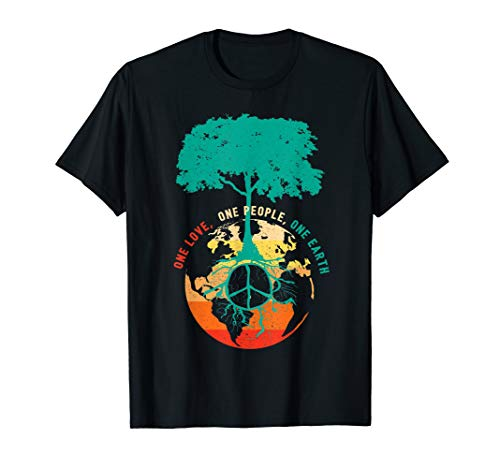 Earth Day T-shirts - World Peace Tree Tshirt - Love People Earth Day Tee Shirt