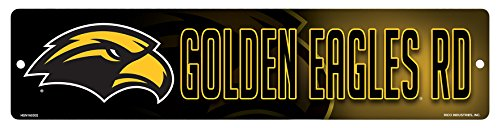 Rico NCAA Southern Mississippi Golden Eagles 16-Inch Plastic Street Sign Décor (Mississippi Sign Street)