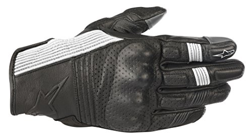 - Alpinestars Mustang v2 Leather Motorcycle Street Riding Glove (M, Black White)