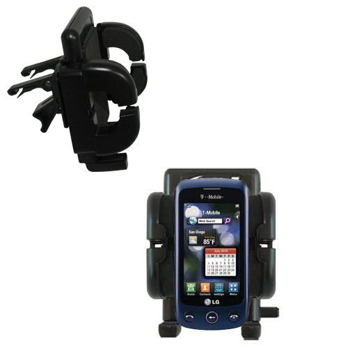 Innovative Vent Cradle Vehicle Mount designed for the LG Sentio - Adjustable Vent Clip Holder for Most Car / Auto Vent Systems by Gomadic