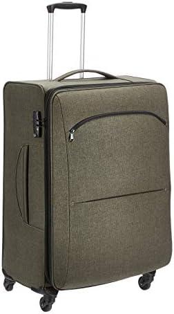 Amazon Basics Urban Softside Spinner Luggage, 29-Inch, Green