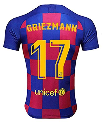 Egypt 17 Griezmann Jersey for Mens 2019-2020 Season Barcelona Griezmann Home Soccer Jersey Red/Blue