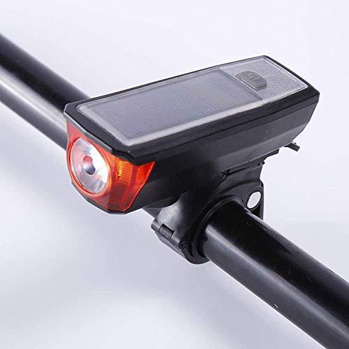 CXZHWGXT Frente de la Bicicleta, luz de Fondo de la Bicicleta, Cargador USB, Faros de Bicicleta de montaña Solar, Luces de...