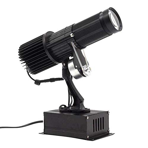 35W LED Custom Image Logo Projector Light with Static Function Manual Zoom&Focus Customized for Indoor Use Company Hotel Restaurant Advertising Signs (Black)