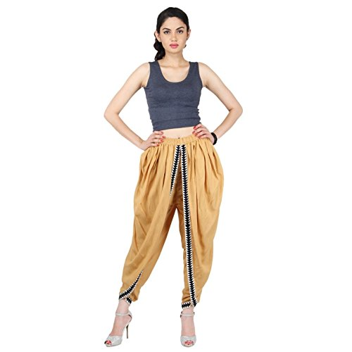 Beige Color Rayon Dhoti Pant, Dhoti Salwar, Patiala Dhoti Pant for ()
