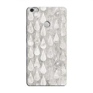 Cover It Up - Raindrops Print Silver Mi Max Hard Case