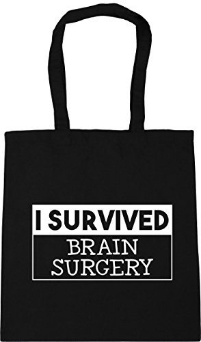 brain Tote x38cm survived HippoWarehouse Gym I Beach surgery 10 Shopping Bag litres Black 42cm qxSwFEw