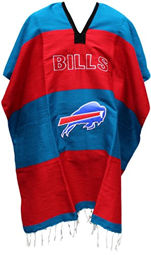 Buffalo Bill Costumes (Football Team Serape Poncho Adult Size (Buffalo Bills))