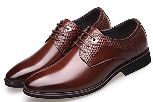 Business Cuir angleterre Shoes Pointy Chaussures Casual Nouvelle Hommes Shiney Wedding Brown Dress EXZpOawqw