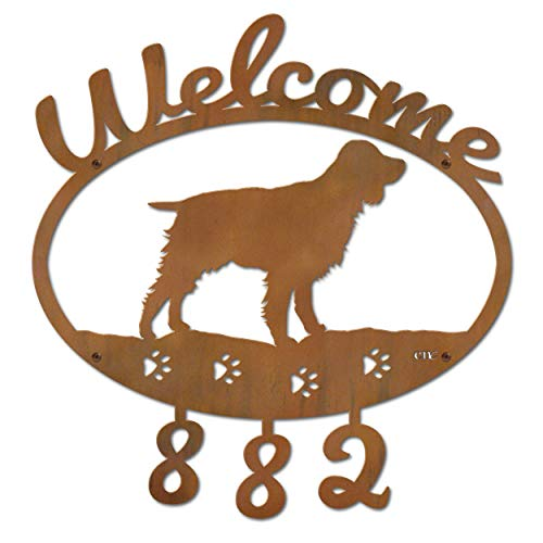 Cold Nose Creations 22in English Springer Spaniel Metal Custom Personalized Welcome Address Numbers