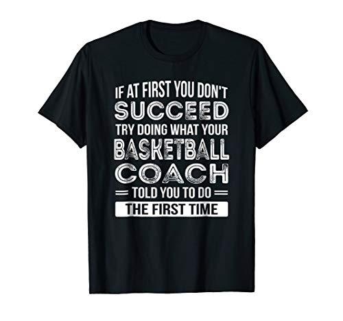 (Basketball Coach Gift T-Shirt Funny Thank You Gift)