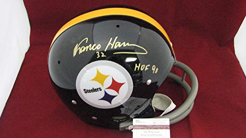 Franco Harris Autographed Signed Autograph Pittsburgh Steelers T/K 2-Bar Helmet Withhof 90 - JSA Authentic W354550