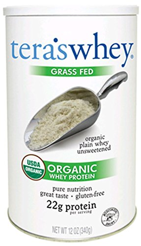 Whey Herbe Fed Whey Protein organique Tera, Plaine, 12 once