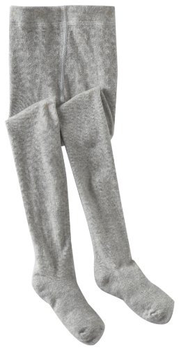 Country Kids Little Girls'  Heather Winter Tights, Silver Gray, 1-3