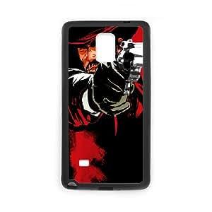 Red Dead Redemption Juego de pistola sombrero de vaquero Nota caja del teléfono celular 4 22144 Samsung Galaxy funda Negro caja del teléfono celular Funda Cubierta EEECBCAAL76600