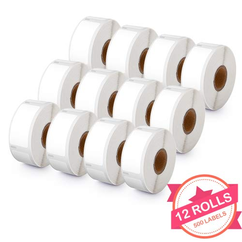 30336 Purpose Multi Labels (12 Rolls Compatible with Dymo 30336 White Small Multipurpose Labels for Dymo LabalWriter 400 450 4XL, 1