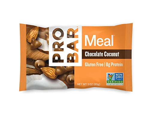 PROBAR - Meal Bar, Chocolate Coconut, 3 Oz, 12 Count - Plant-Based Whole Food Ingredients ()