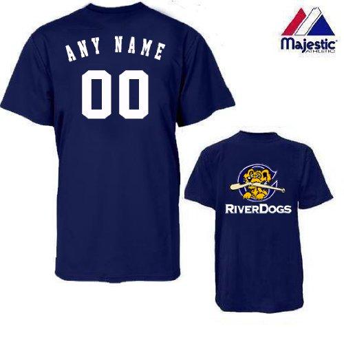 CUSTOM Charleston Riverdogs JERSEY (Add Name & Number) Adult 2XL 100% Cotton MiLB Majestic T-Shirt Minor League Baseball Replica Jersey