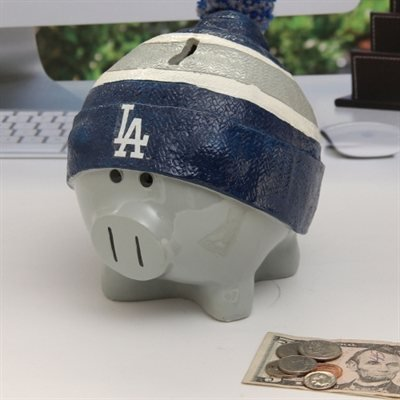 Forever Collectibles - Los Angeles Dodgers Piggy Bank - Large With Hat
