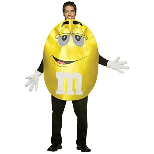 M And M Costume (Rasta Imposta M&M's Character Deluxe, Yellow, One Size)