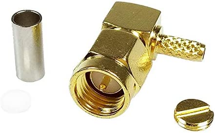 100pcs Gold Plated SMA Male Right Angle RF Connector 90 Degree SMA Male Plug Adapter for RF Coaxial Cable RG316 RG178