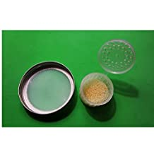 KEFIR FERMENTER: Set of Strainer Lid (Classic Wide Mouth for Mason or Ball Jars) and Container for Kefir Grains (Big Size - for 0.5 L-1.5l Volumes)