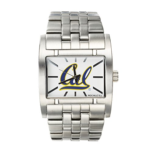 Rockwell NCAA California Golden Bears Men's Apostle Watch, Adjustable, Silver
